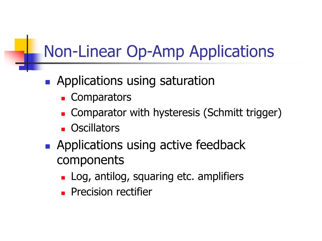 Non-Linear Op-Amp Applications