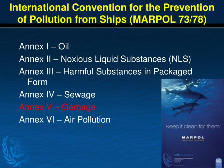 International Convention for the Prevention of Pollution from Ships (MARPOL 73/78)