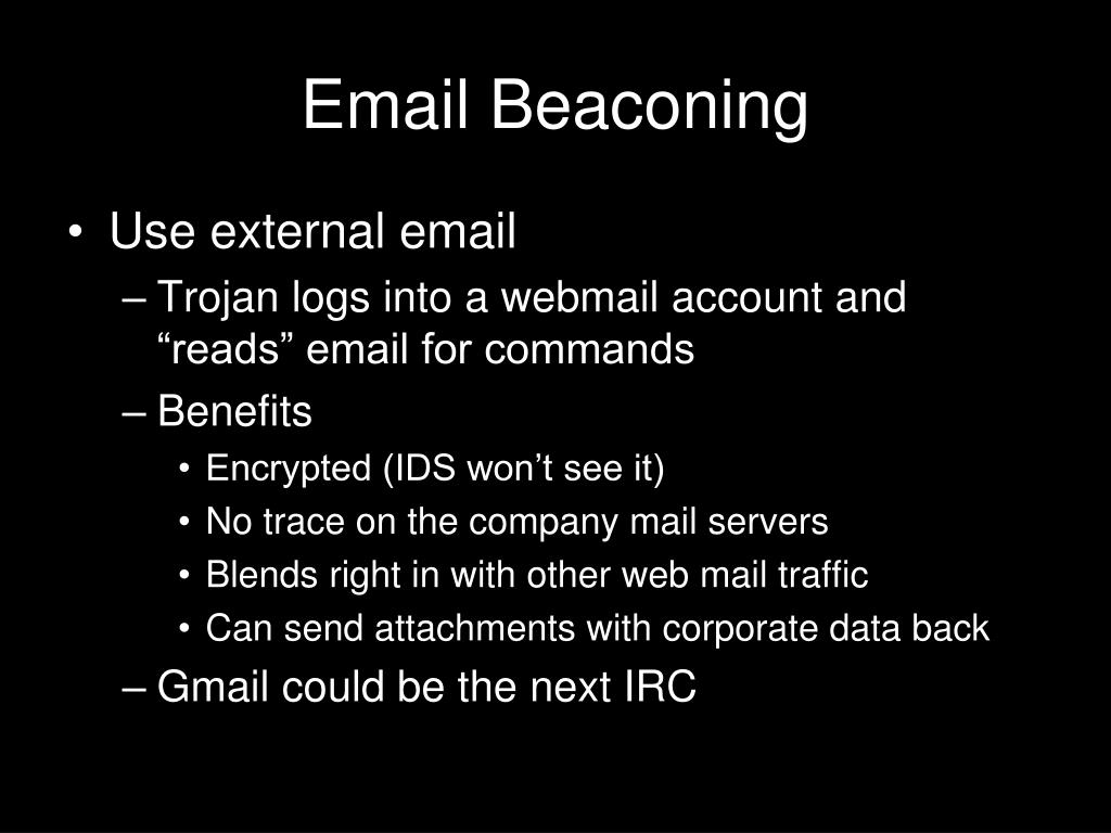 Email Beaconing