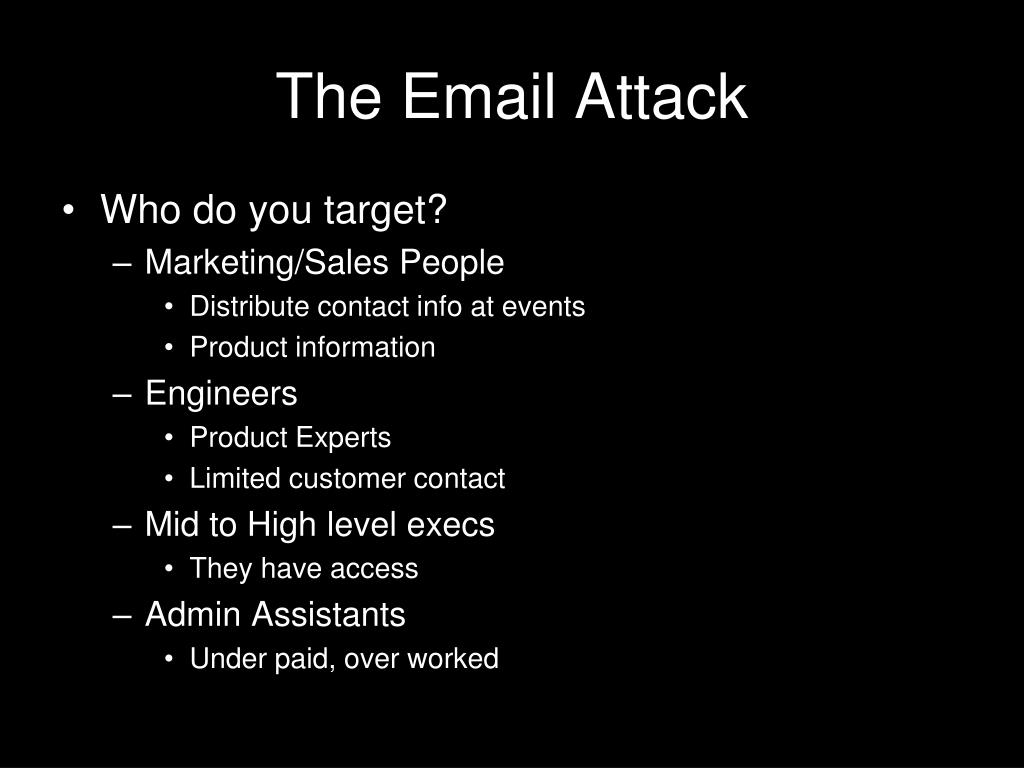 The Email Attack