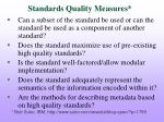 standards quality measures