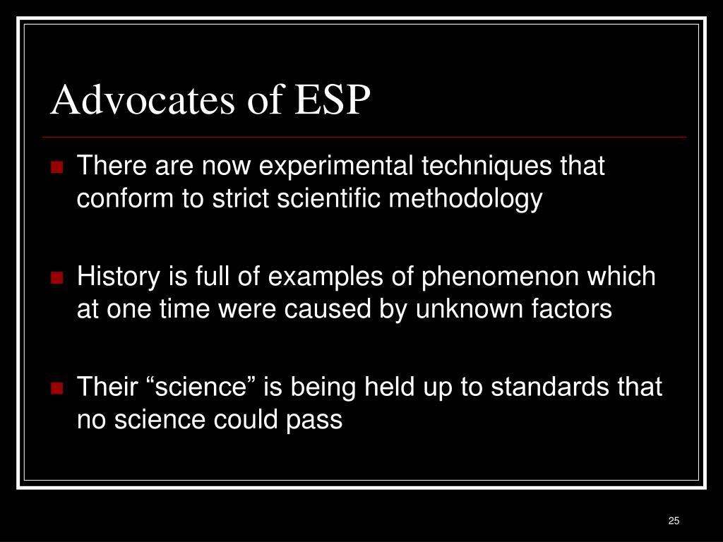 Advocates of ESP