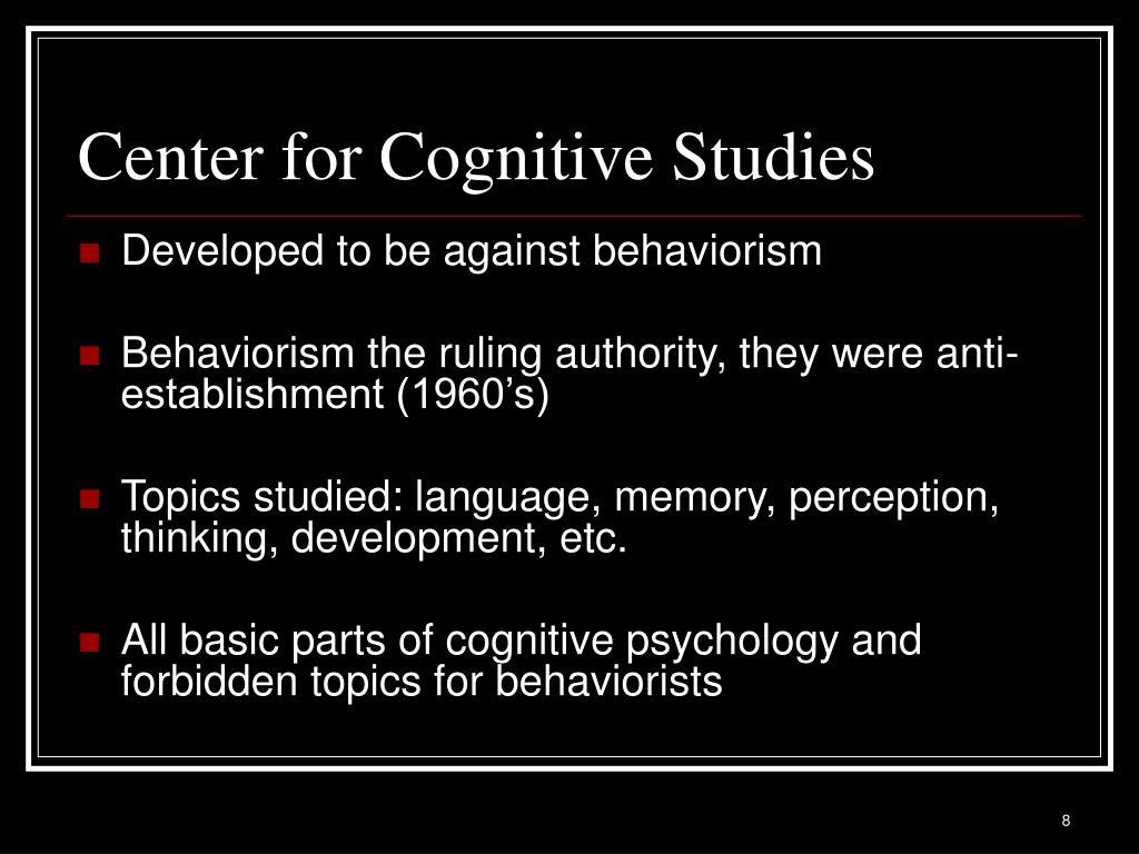 Center for Cognitive Studies
