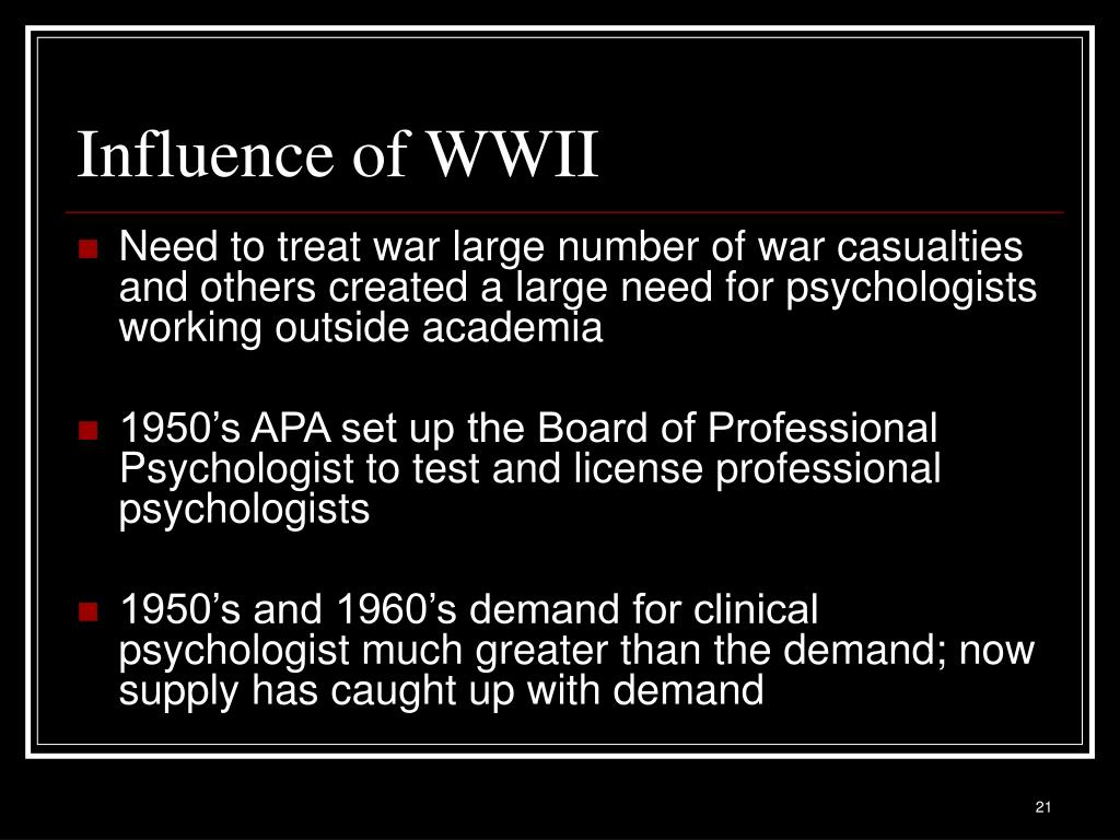 Influence of WWII