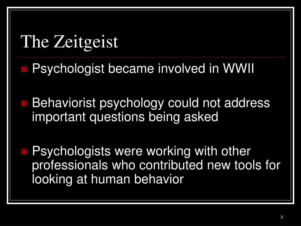 The Zeitgeist