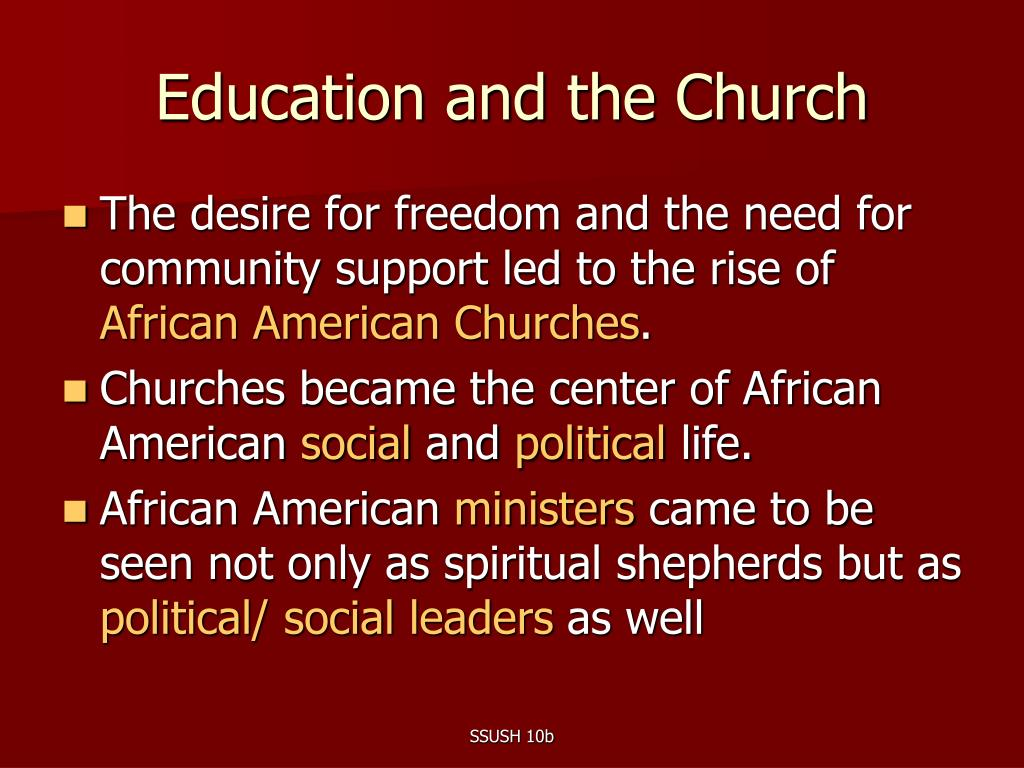 Education and the Church