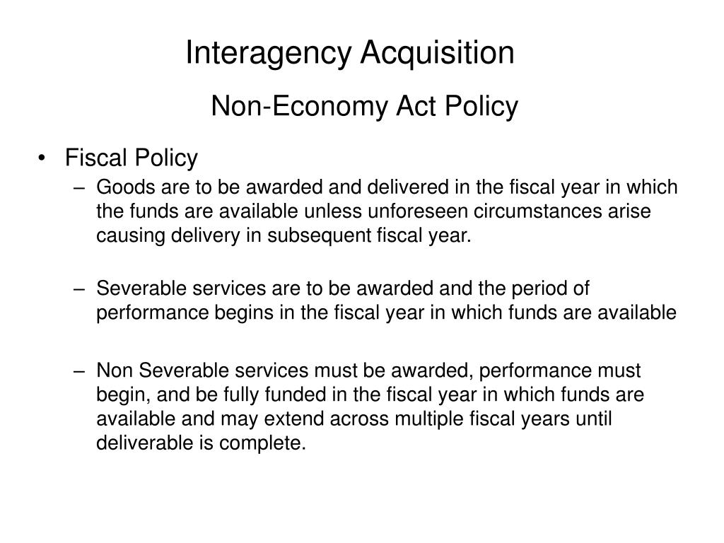 Interagency Acquisition