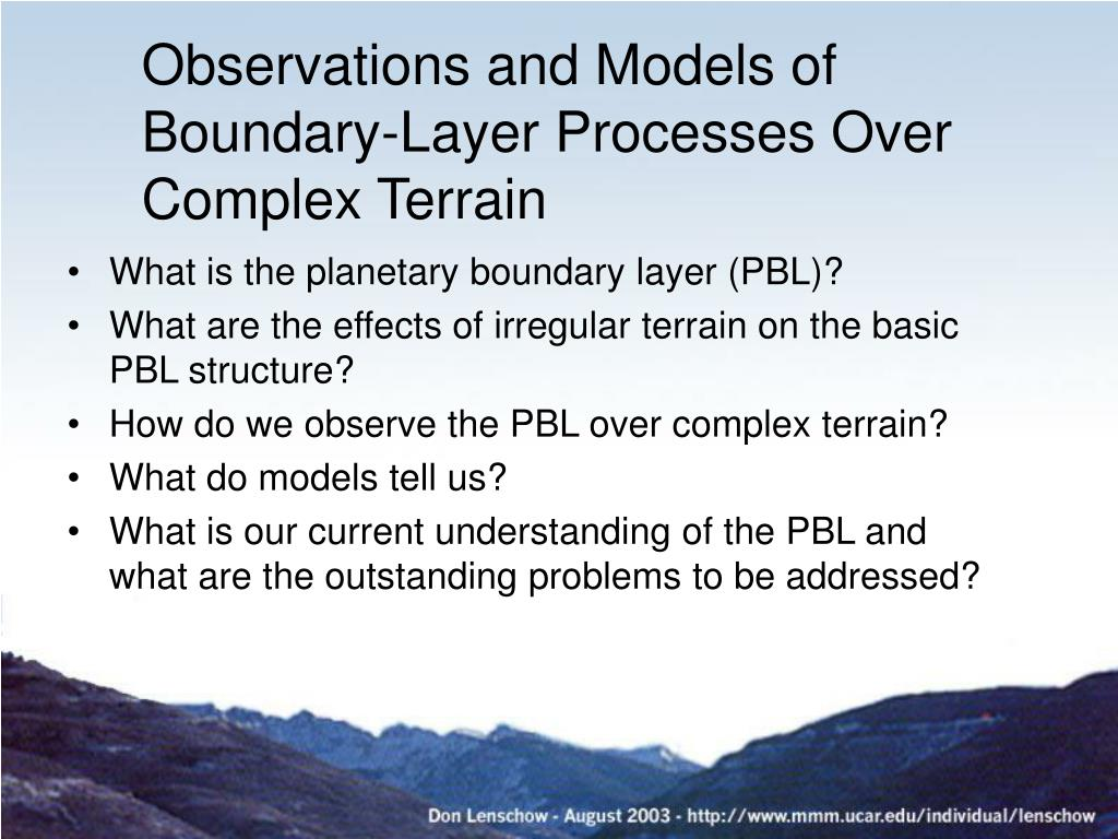 Observations and Models of Boundary-Layer Processes Over Complex Terrain