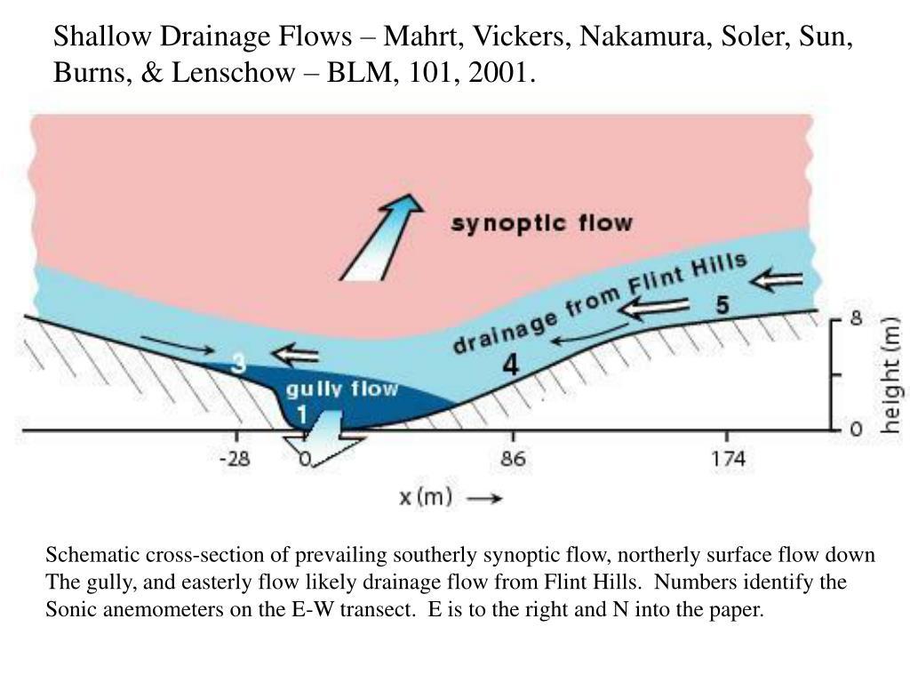 Shallow Drainage Flows – Mahrt, Vickers, Nakamura, Soler, Sun,