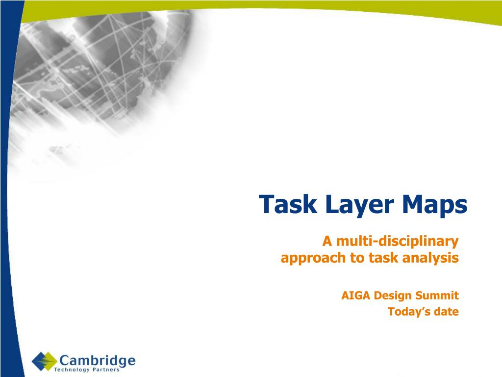 task layer maps l.