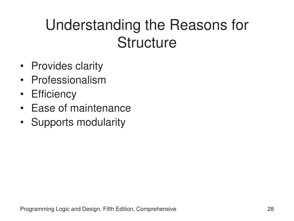 Understanding the Reasons for Structure