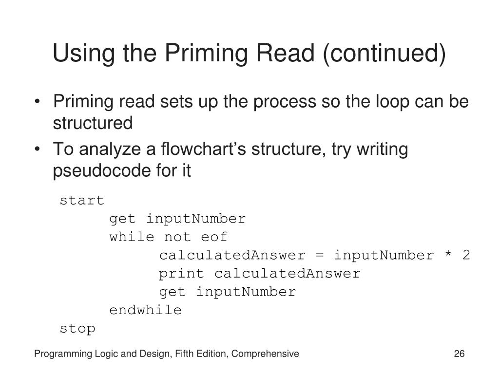 Using the Priming Read (continued)