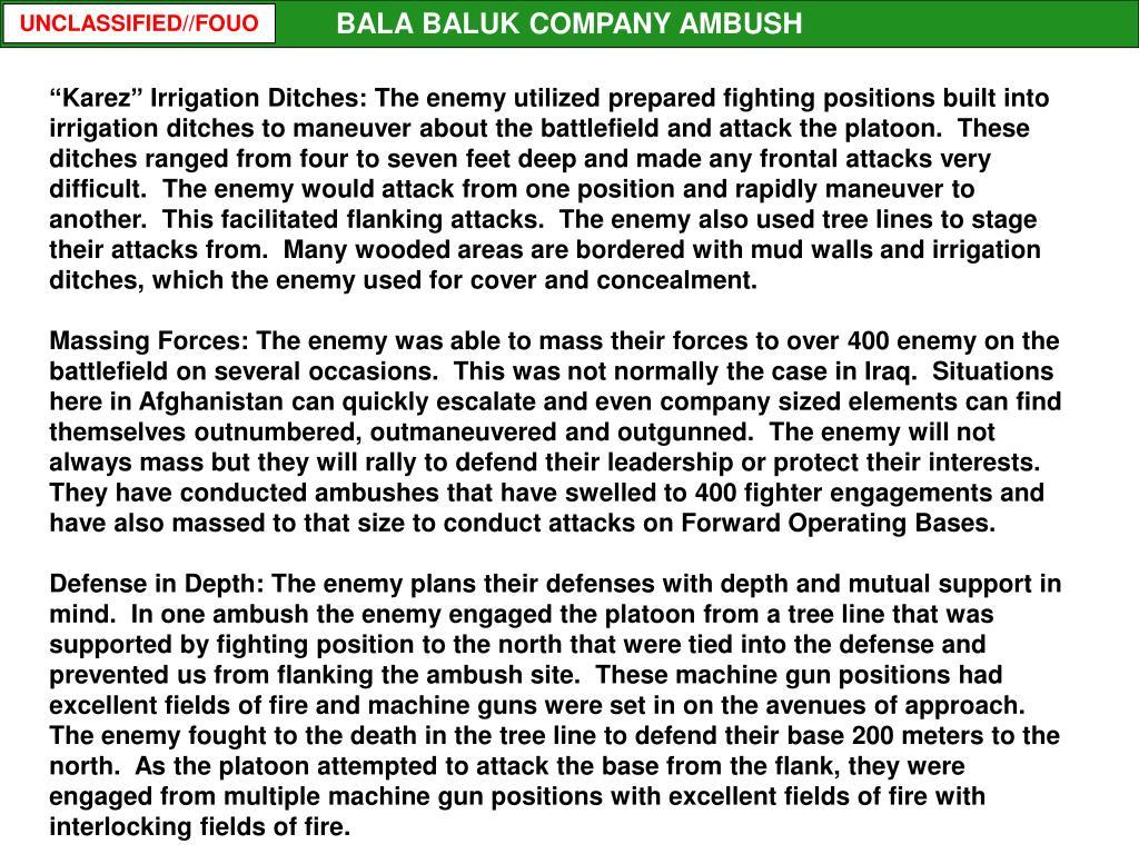 BALA BALUK COMPANY AMBUSH