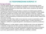 la trasformazione europea iv