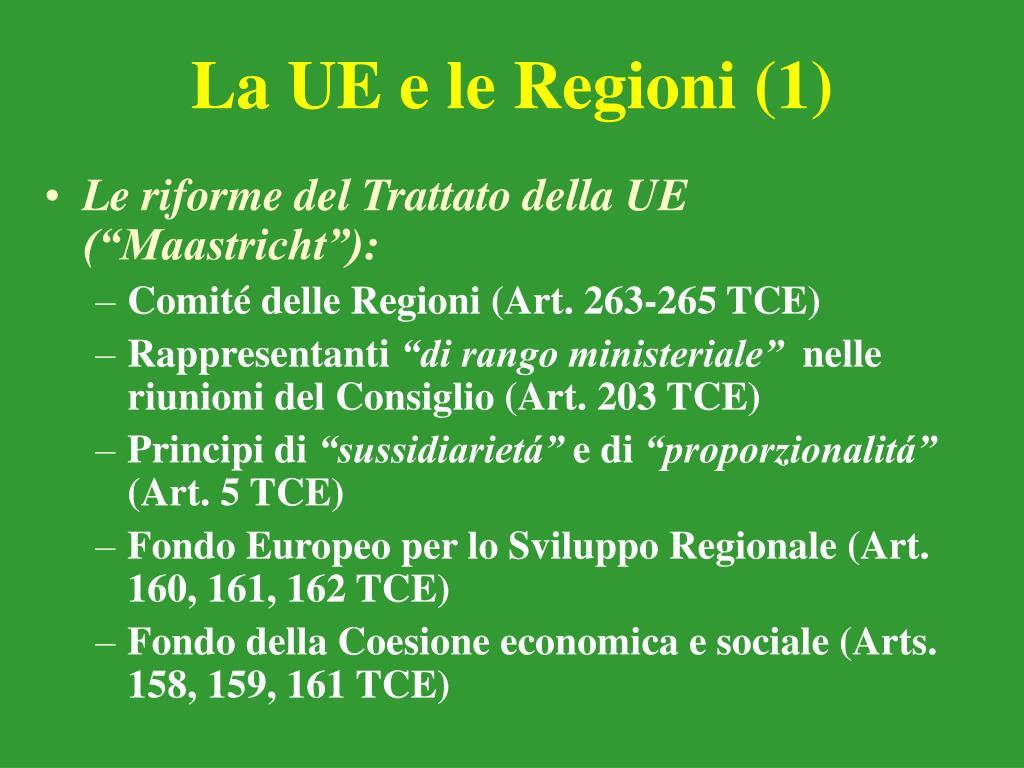 La UE e le Regioni (1)
