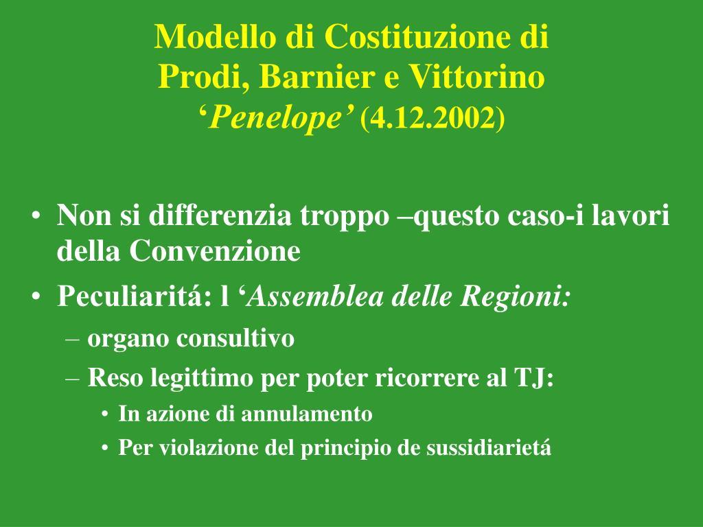 Modello di Costituzione di