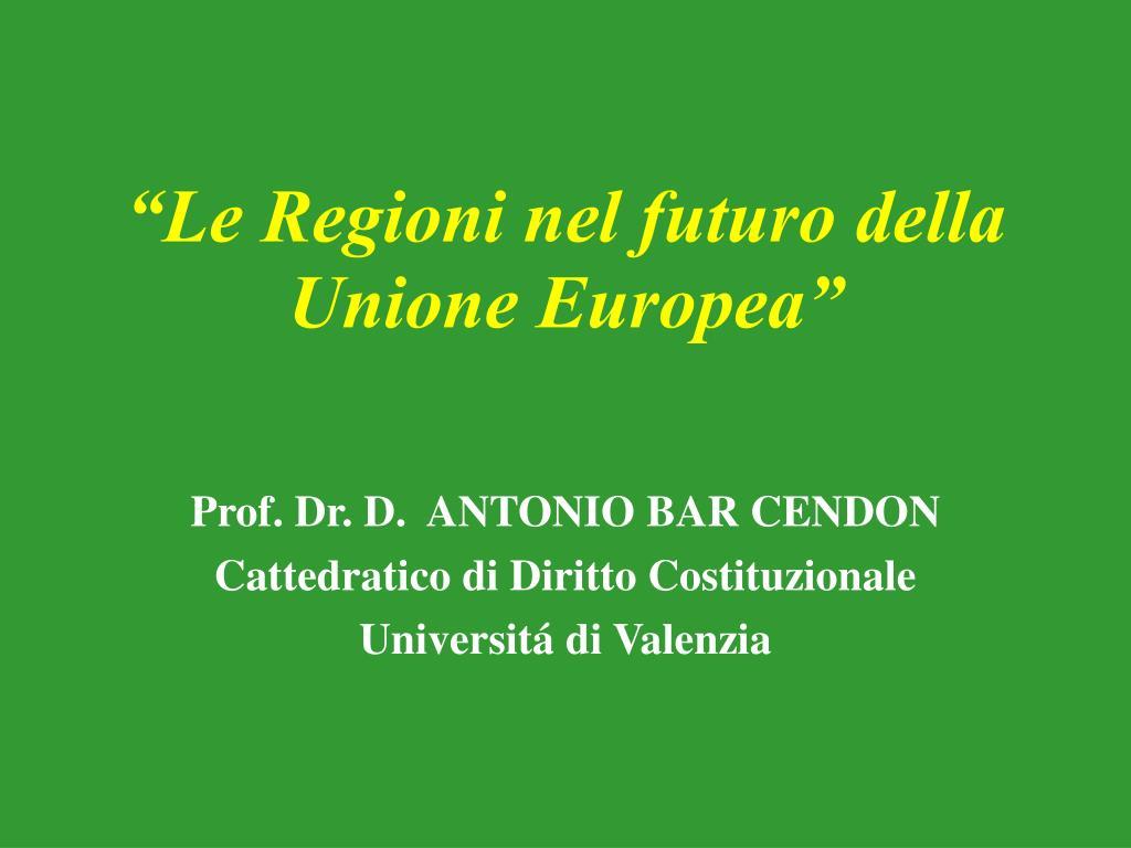 Prof. Dr. D.  ANTONIO BAR CENDON