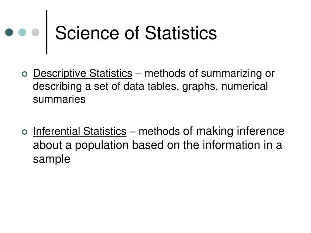 Science of Statistics