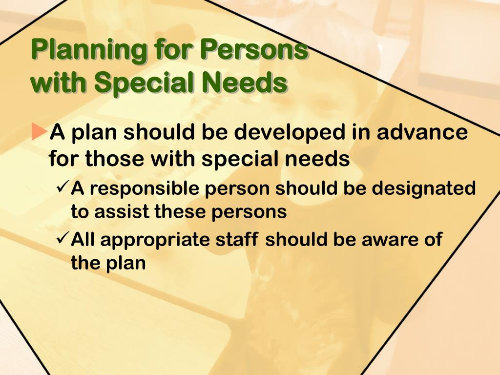 Planning for Persons