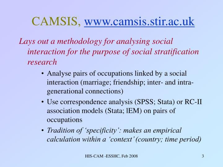Camsis www camsis stir ac uk