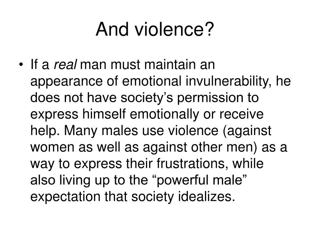And violence?
