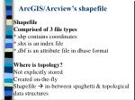 arcgis arcview s shapefile