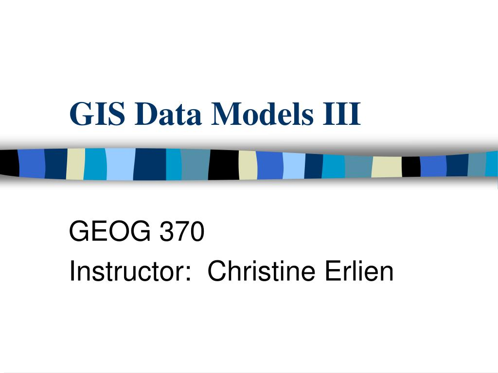 gis data models iii l.
