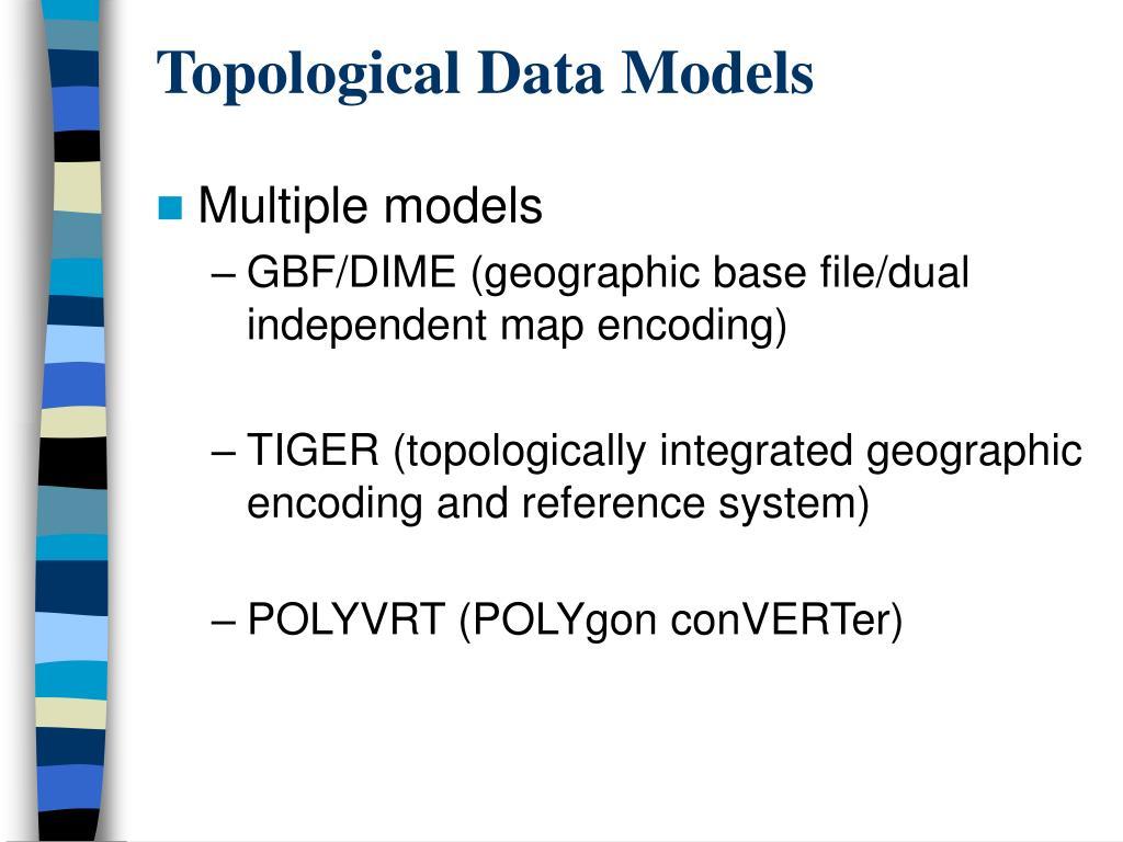 Topological Data Models