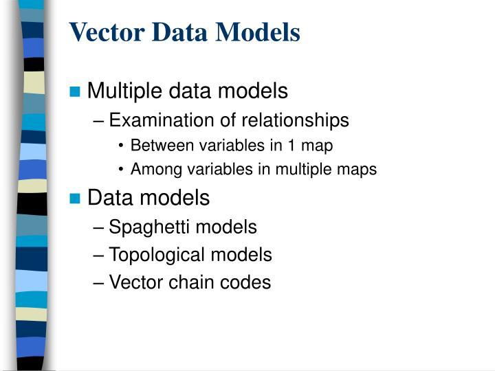 Vector data models