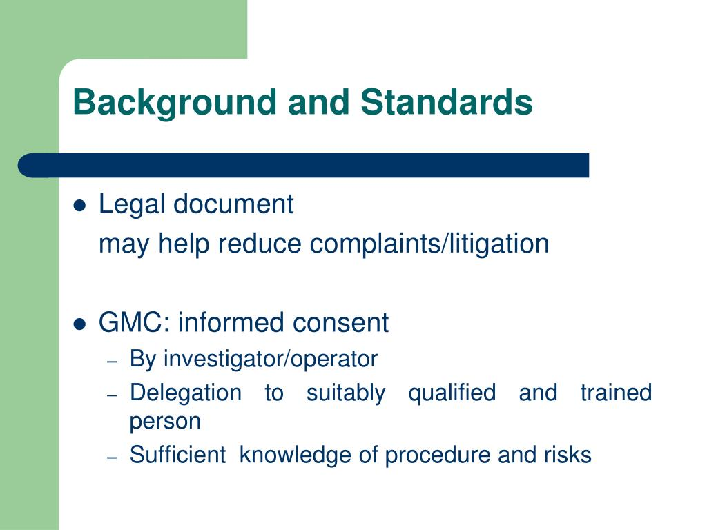 Background and Standards
