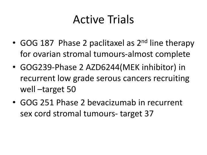 Active trials