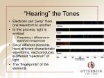 hearing the tones