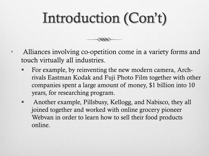 Introduction con t