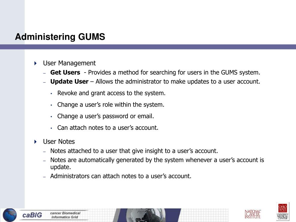 Administering GUMS