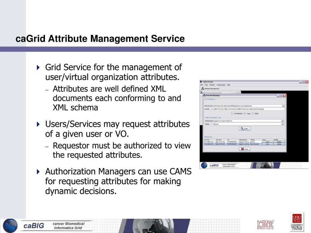 caGrid Attribute Management Service