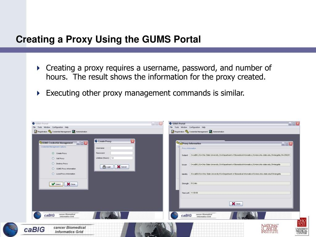 Creating a Proxy Using the GUMS Portal