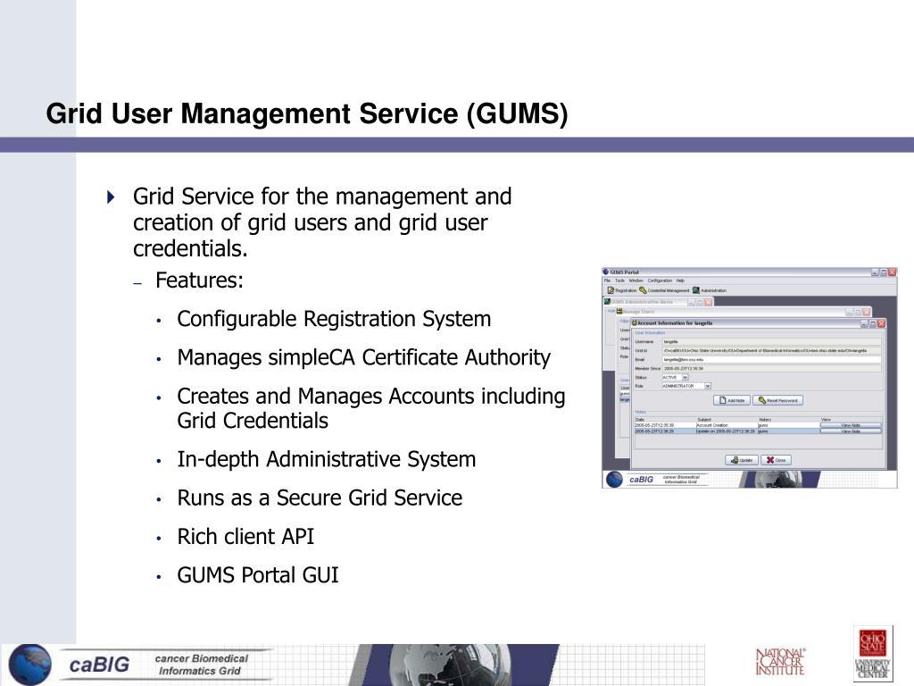 Grid User Management Service (GUMS)