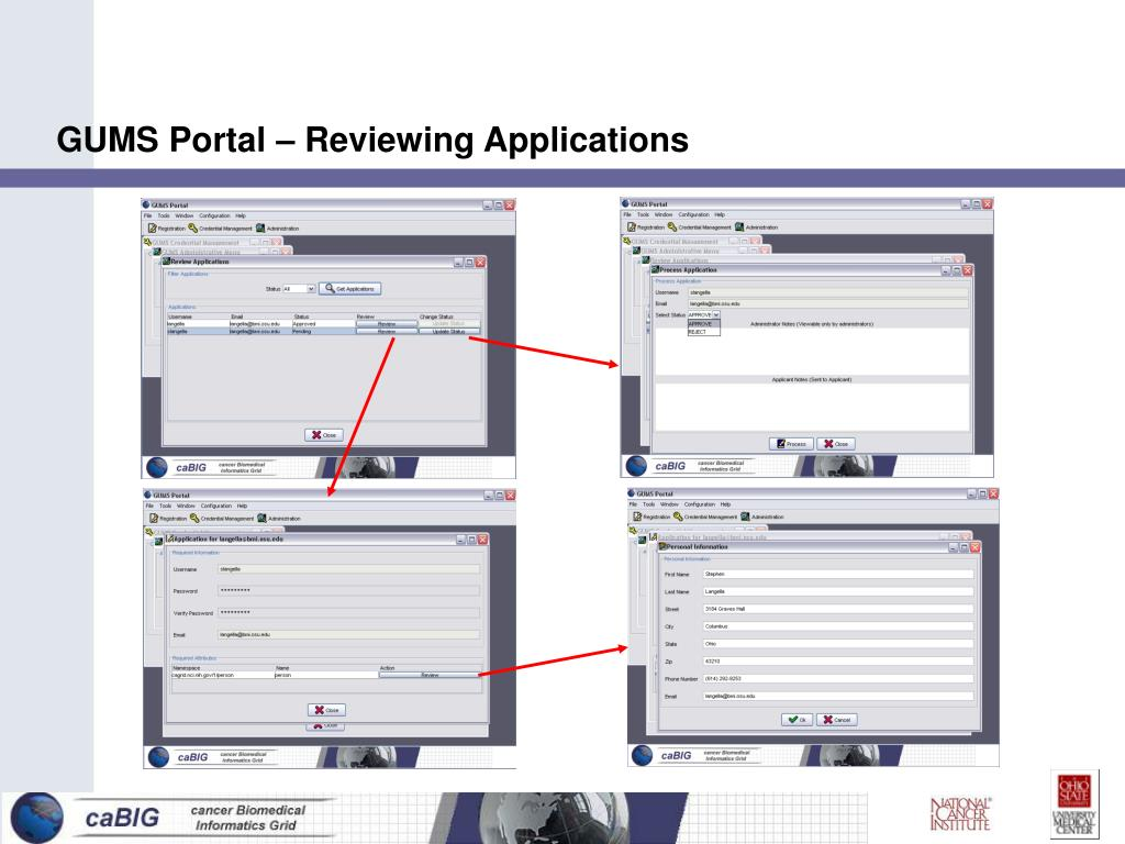 GUMS Portal – Reviewing Applications