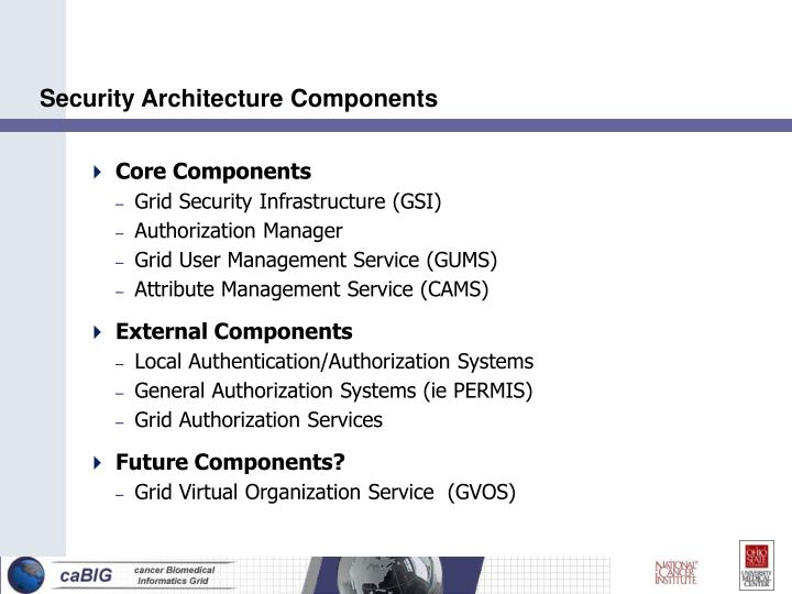 Security architecture components