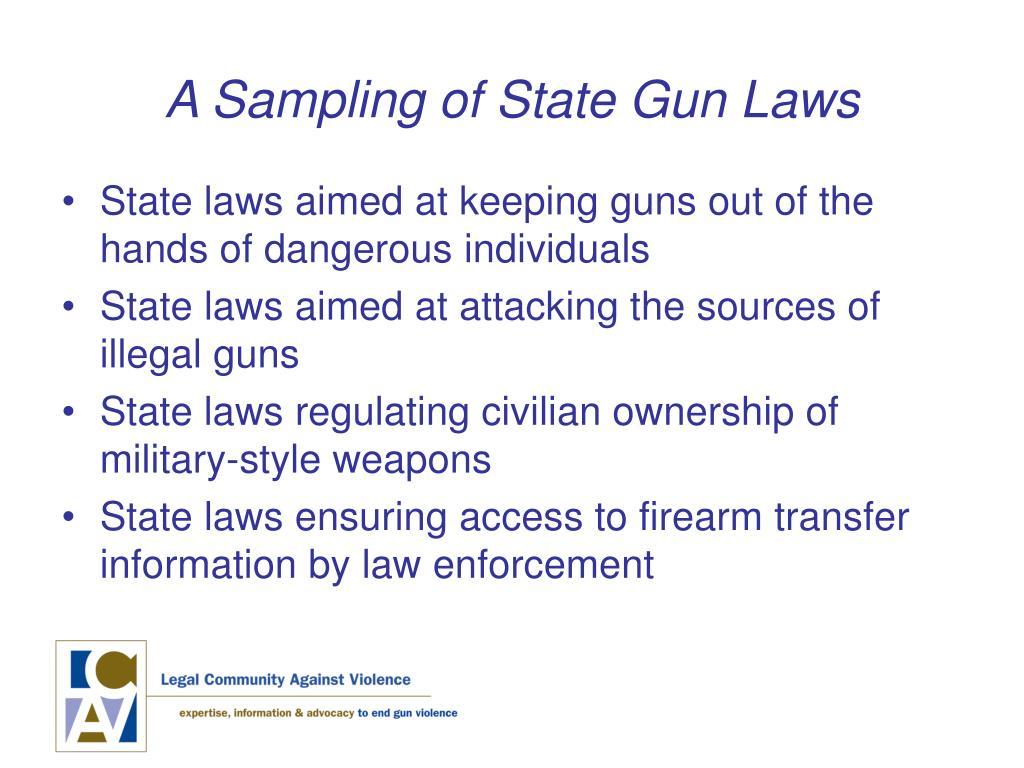 A Sampling of State Gun Laws