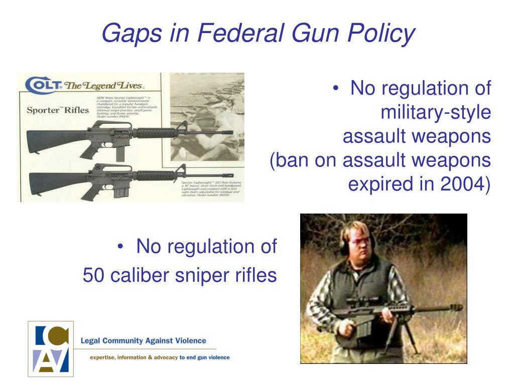 Gaps in Federal Gun Policy