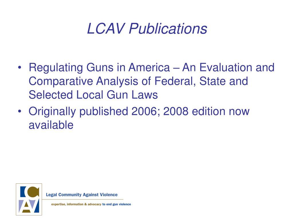 LCAV Publications
