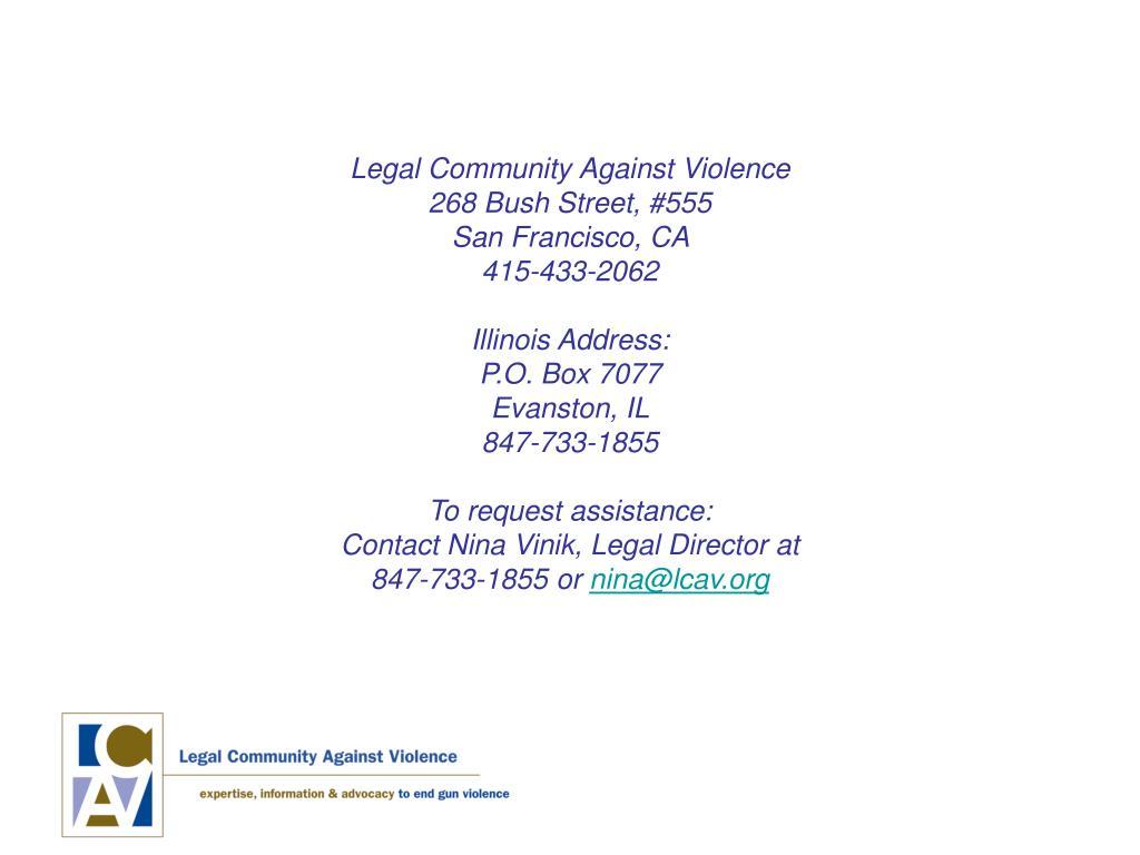 Legal Community Against Violence
