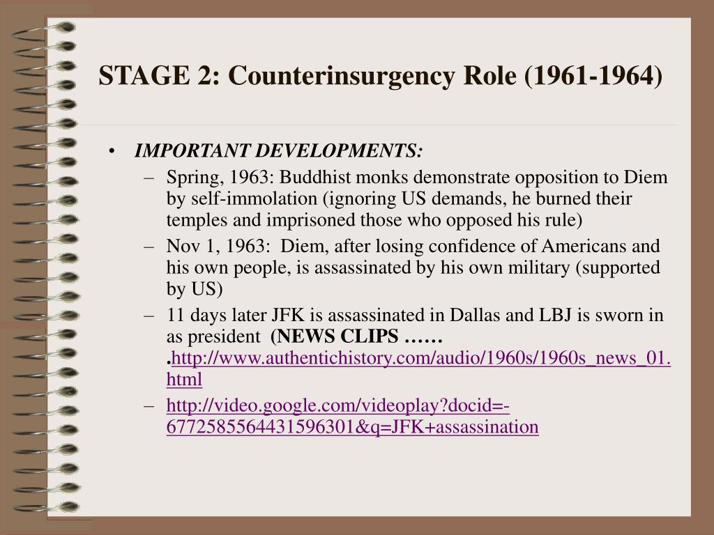 STAGE 2: Counterinsurgency Role (1961-1964)