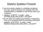 stateful iptables firewall