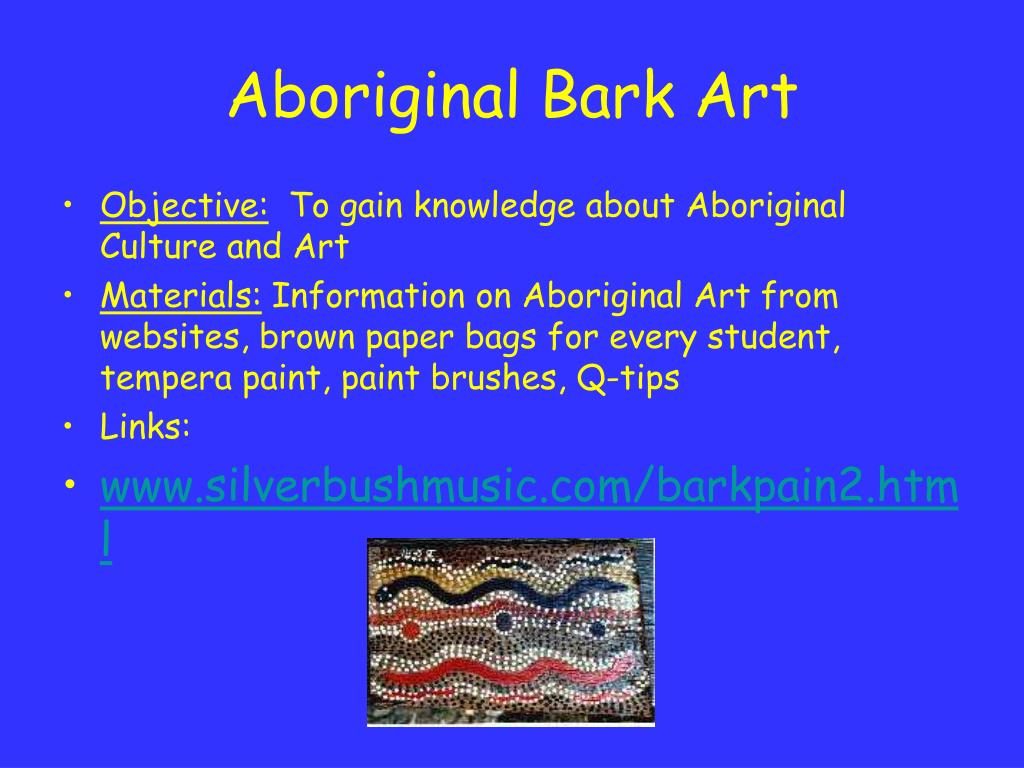 Aboriginal Bark Art