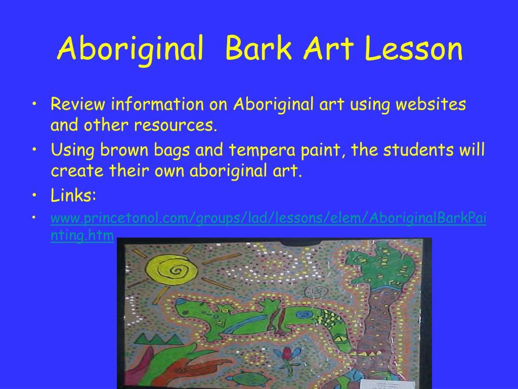 Aboriginal  Bark Art Lesson
