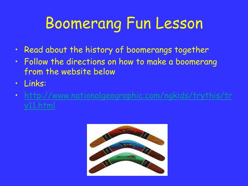 Boomerang Fun Lesson