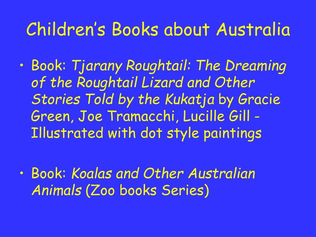 Children's Books about Australia