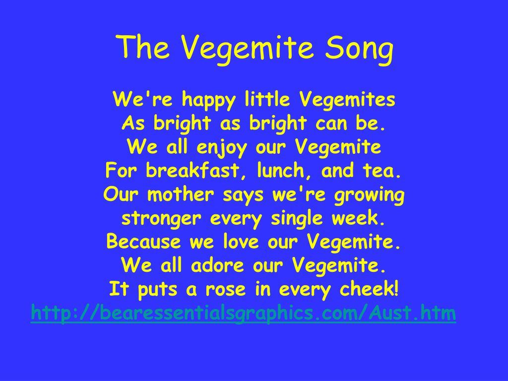 The Vegemite Song